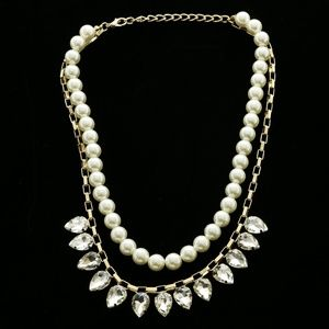 Luxury Pearls Necklace Gold/White NWOT